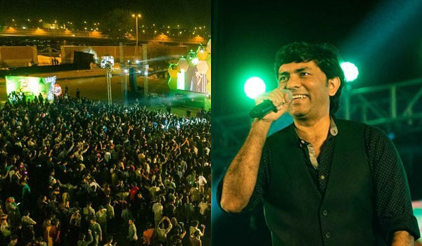 Sajjad Ali performing at 7UP Foodies Festival