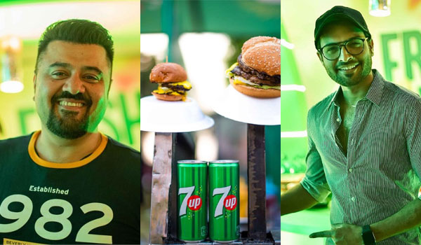 Ahmed Ali Butt & Asad Siddiqui at 7UP Foodies Festival