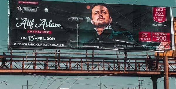 Atif Aslam fake concert billboard