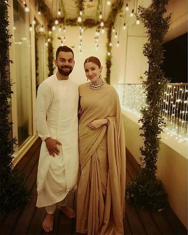 Anushka & Virat on Diwali