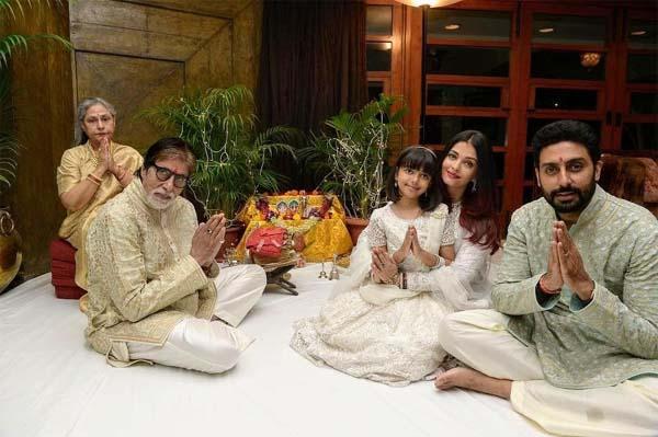 Bachchan family on Diwali