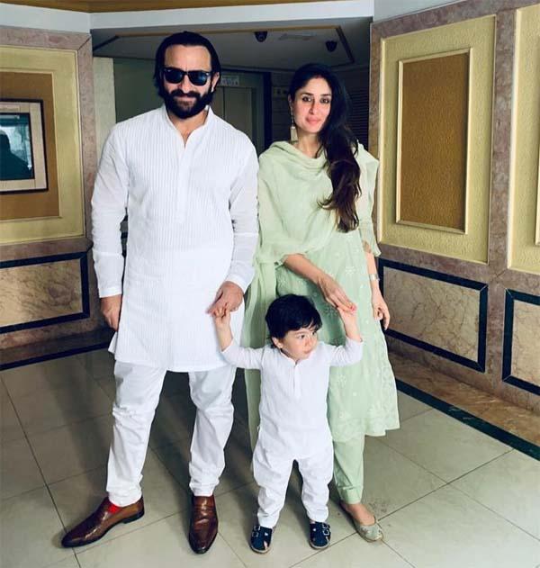 Saif & Kareena on Diwali