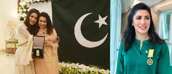Mehwish Hayat honored with Tamgha-e-Imtiaz