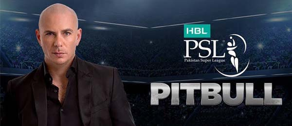Pitbull performing in PSL 4 opening ceremony