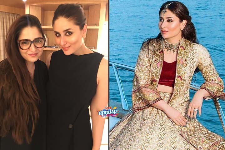 Kareena Kapoor wearing Pakistani fashion designer Tena