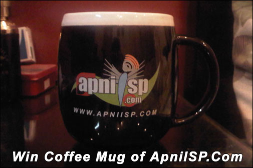 Win Free Coffee Mug of ApniISP.Com
