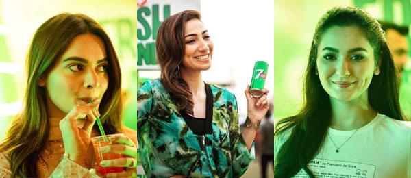 Hania Aamir & Minal Khan at 7UP Foodies Festival