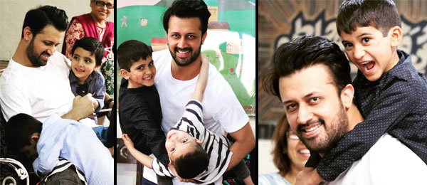 Atif Aslam spent time with deprived children