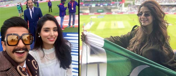 Celebrities at Pakistan vs India cricket match