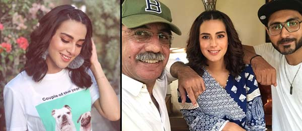Iqra Aziz on the sets of Suno Chanda 2