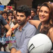 Aditya & Parineeti at Food Yatra to promote Daawat-E-Ishq